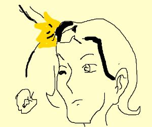 Forbidden fruit falling on Newton's head