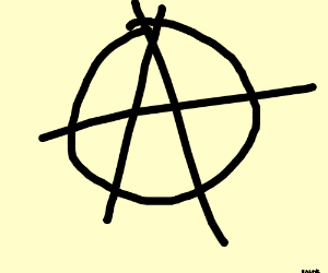 The ever-creative anarchy symbol