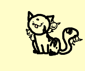 A kitty made out of smaller kitties