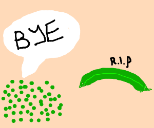 So long and thanks for all the.....peas?