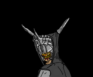 the mouth of sauron looking guilty