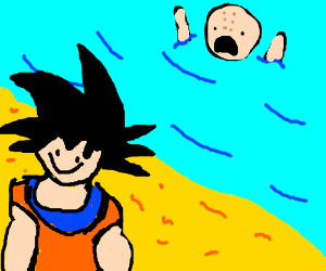 Dragon Ball Z characters go to the beach