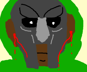 guy with ironmask is heavily earbleeding