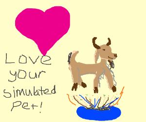 """""""I heart goat simulator?"""" Hmmm."""