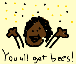 Oprah gives the audience BEES!!
