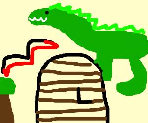 The gate of Jurassic Park