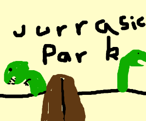 A door to Jurrasic Park