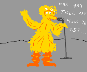 Big Bird does Karaoke