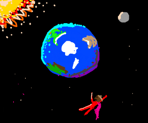 the earth from the top as seen by super red