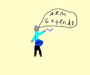 """""""Arm Extendo!"""" says the gray mail man."""