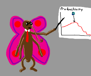 Butterfly lectures angrily on time management