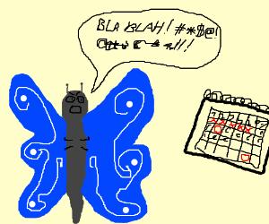 butterfly complains to calendar