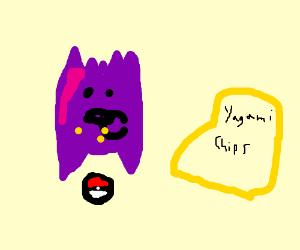 Gengar eating potato chips