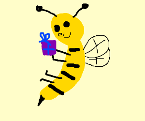 Man giving bees as a gift.