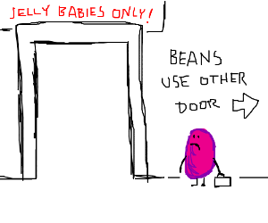 jelly babies and jellybeans segregate