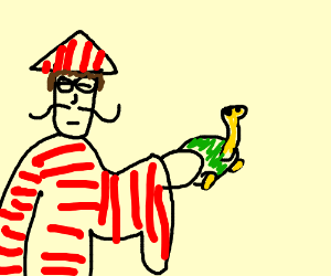 Chinese Waldo finds turtle