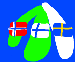 Sweden switched places with finland, gets snow