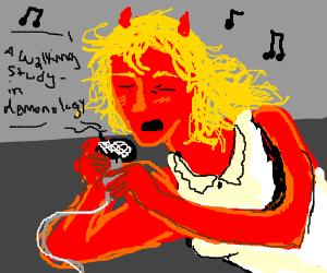 Demon rockstar girl