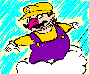 Wario utilizes the power of the cloud.