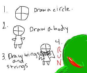 how to draw god step by step easy