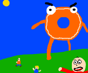 The giant donut guy