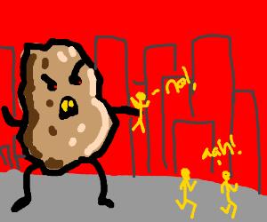 Giant sentient potato kills people