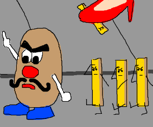 Mr. Potato's evil twin causes havoc in NYC!