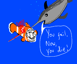 fish gets murdered for being bad at trolling