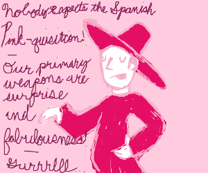 Nobody expects the Spanish Pink-quisition!!