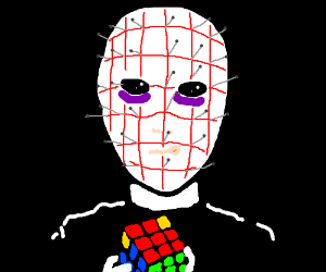Pinhead's so close to solving the rubik's cube