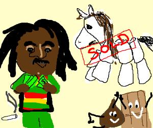 Bob Marley befriends world's fluffiest horse.