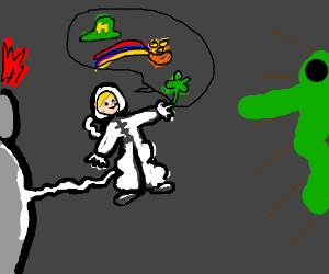Astronaut introduces St Patrick's Day to alien