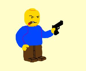 Lego guy packing heat