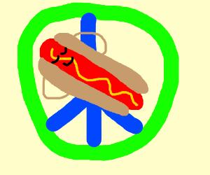 hotdog chilling in peace