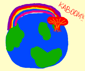 rainbow destroys earth