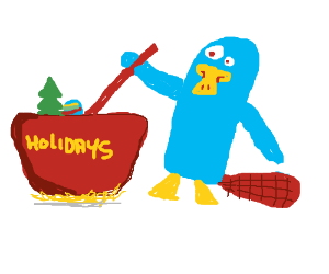 Platypus mixes up the holidays