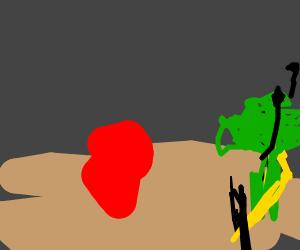 Broccoli winning a race