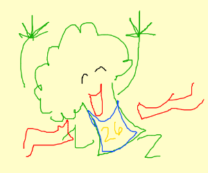 Broccoli wins 1st place medal! HURRAH!