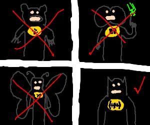 Batman's many ideas of identity before Batman