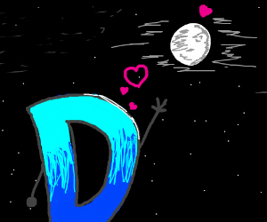 D is dating the moon