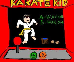 1980's Karate Kid's First Game