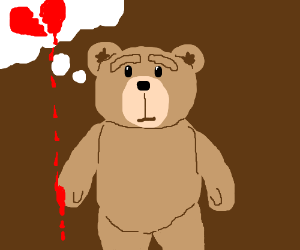 Ted rips apart the heart in own thought bubble