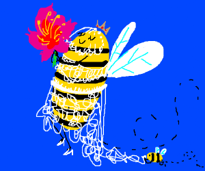 Aww, the bee queen on her wedding day