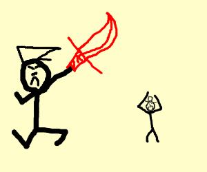 Hitler assaults a jewish
