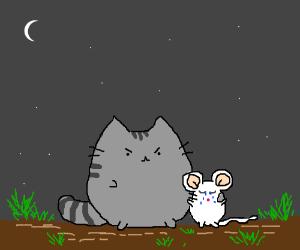 Comforting a sad mouse