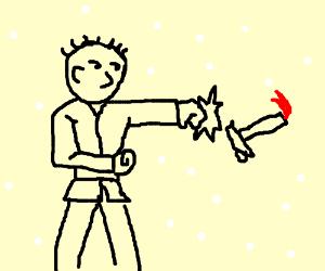 Arcade - Karate Kid's moves involve candle wax