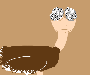 Bug-Eyed Ostrich