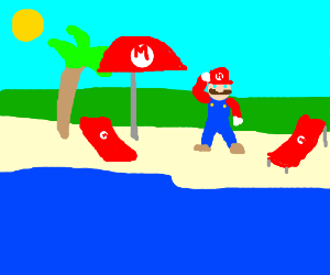 Super Mario Bros. Sea Side
