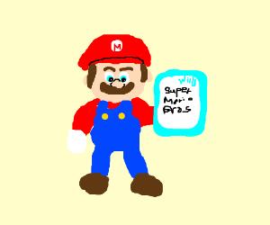 Mario endorsing himself