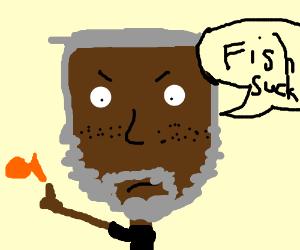 Freckles Morgan Freeman is racist towards fish